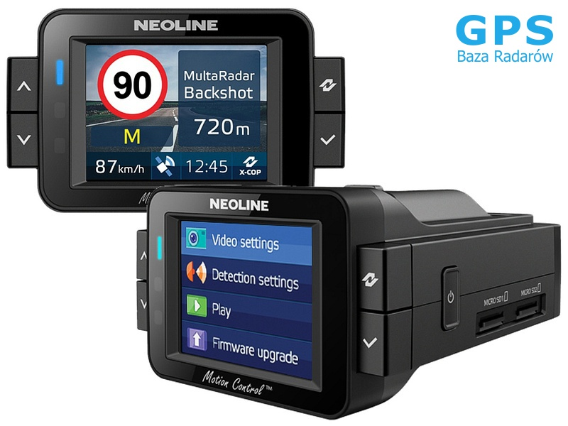 Wideorejestrator Neoline X-COP 9100s antyradar baza ...